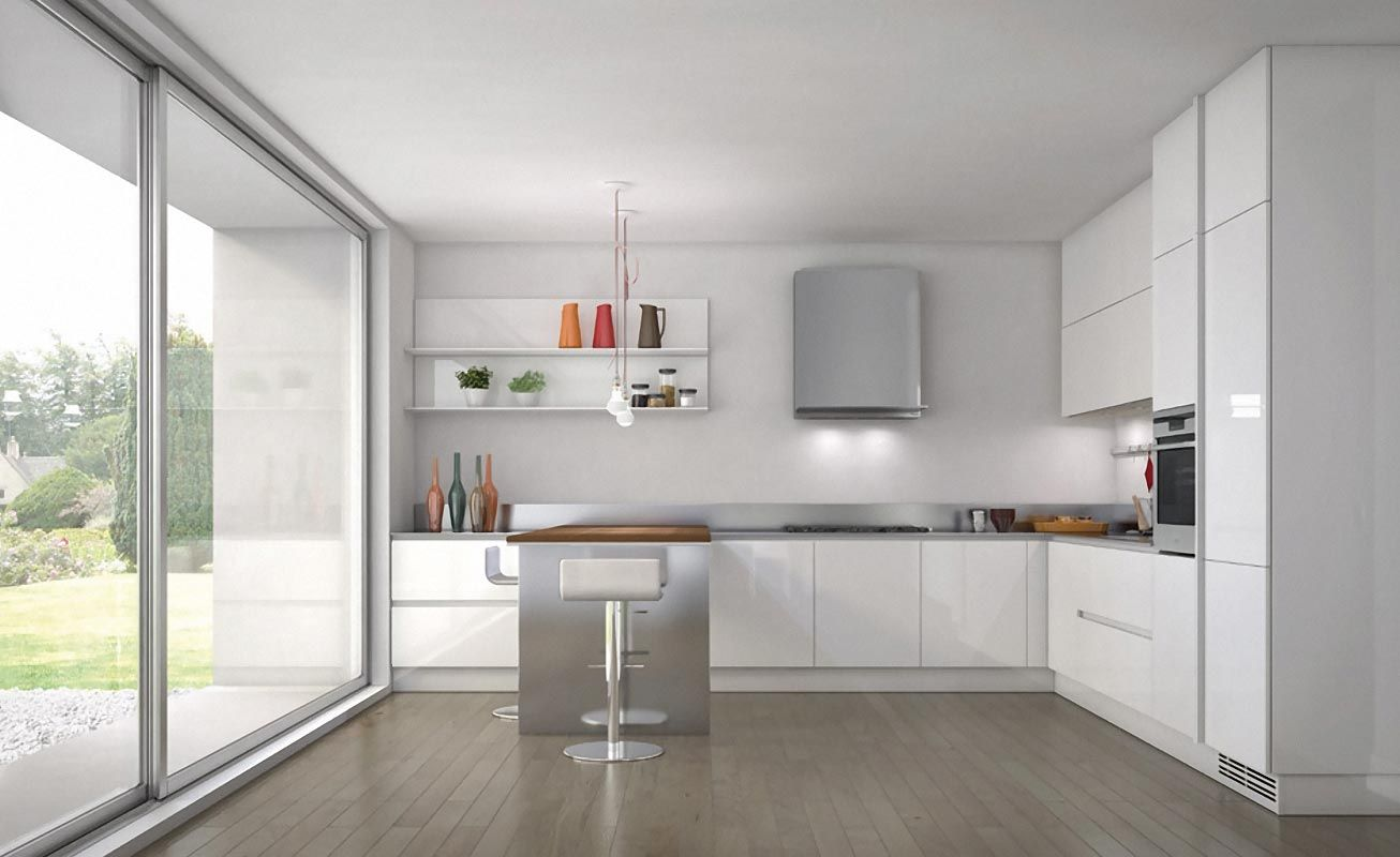 Modern white and wood kitchen designs - Check Out 30 Contemporary White Kitchens Ideas Bright Cheery And Timeless White Remains