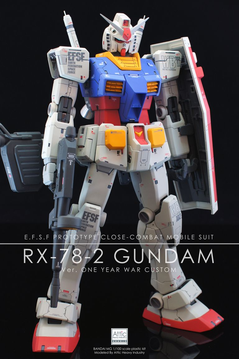 BANDAI MG 1//100 RX-78-2 GUNDAM Ver ONE YEAR WAR 0079 Plastic Model JAPAN NEW.
