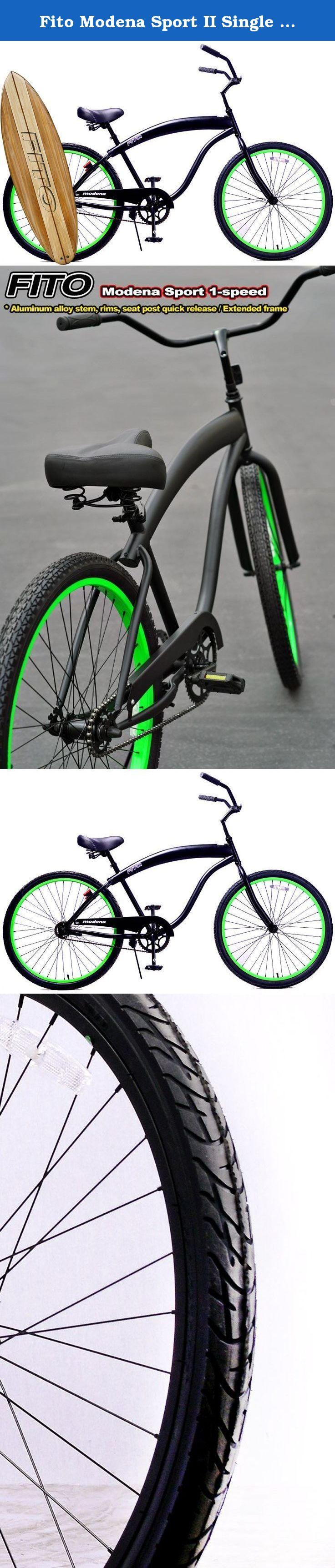 Fito Modena Sport Ii Single 1 Speed Men Matte Black Neon Green 26 Ecer