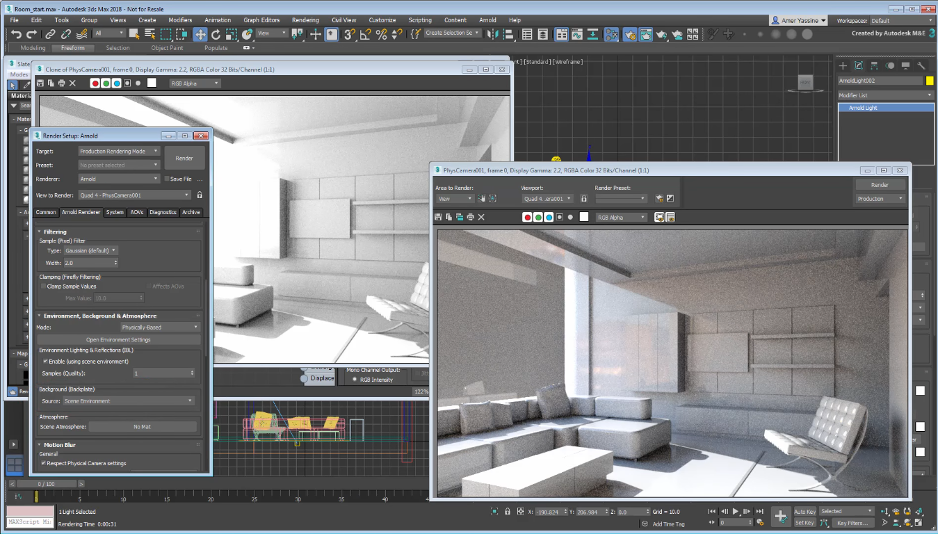 Line Drawing Render 3ds Max : Render with arnold s vr camera in ds max cg