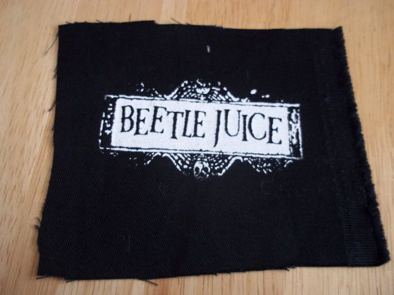 Beetlejuice logo patch by kreepshowkouture on Etsy, $3.00