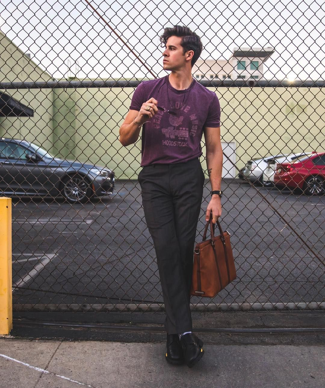 Styling Dress Pants Doesn T Have To Be Complicated Dudes A Graphic Tee And Some Dress Black Dress Pants Mens Fashion Fall Outfits Mens Fashion Summer Outfits [ 1287 x 1080 Pixel ]
