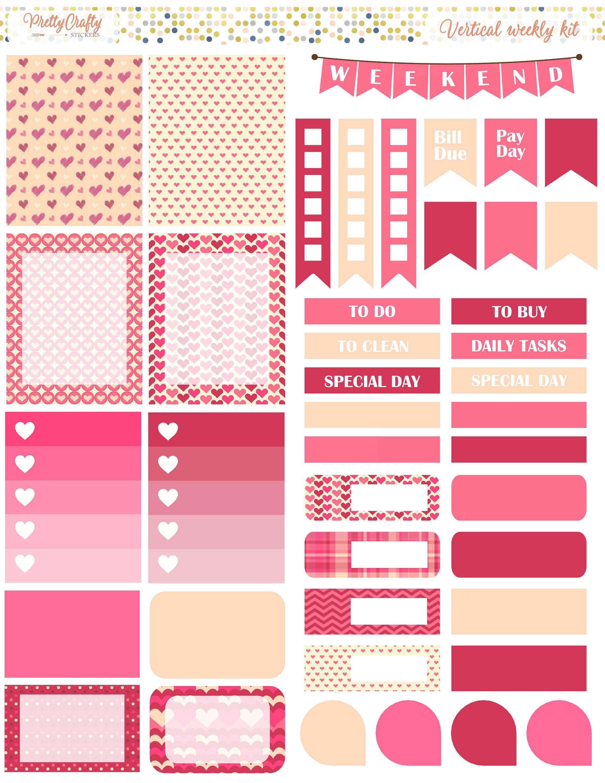 DIY Craft Calendar Scrapbook Album Diary Book Decor Planner Paper Stickers LD