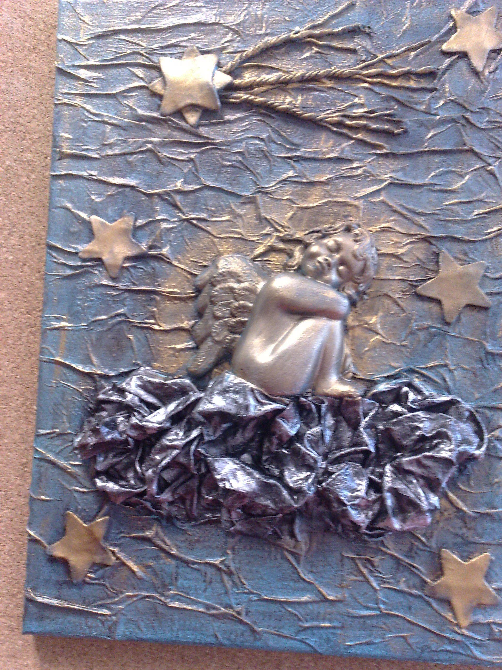 Quadro com anjo ginis pinterest cuadro textura y for Ladrillos falsos decorativos