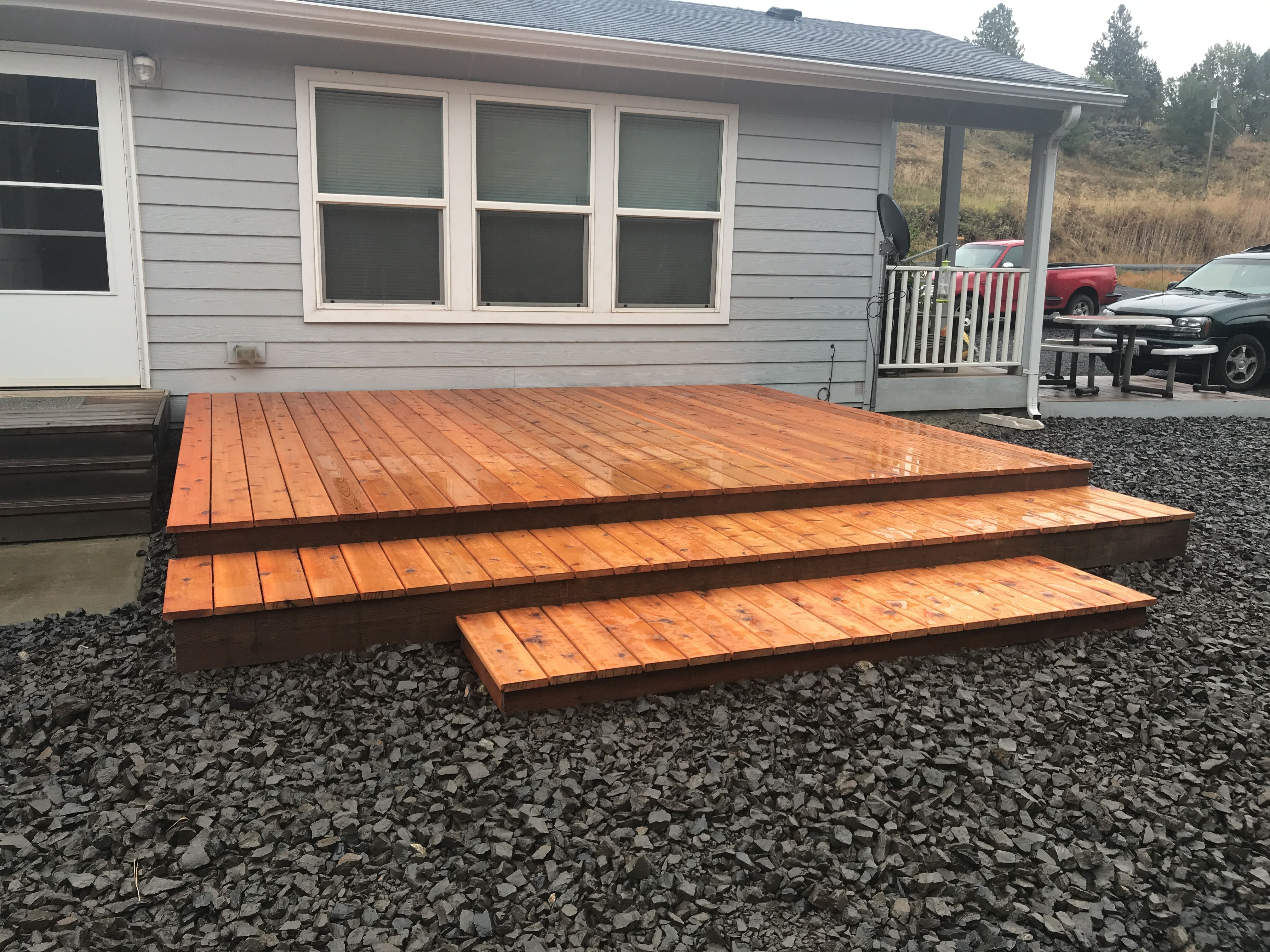 My Simple 12x14 Floating Deck Next Project For It Will Be A