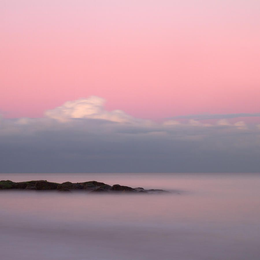 Rocks In The Sea At Sunset Surrealism Photography Surreal Scenes Nature Scenery Pink clouds sunset dusk coast rocks