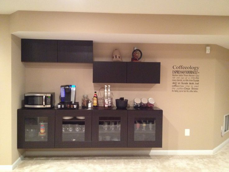 Bar Set IKEA | Home Bar Furniture Ikea Coffee bar using ikea besta ...