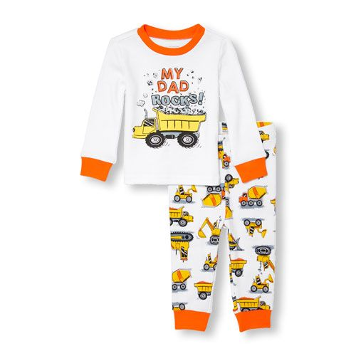 38fc64aac227 Baby And Toddler Boys Long Sleeve  My Dad Rocks  Top And ...