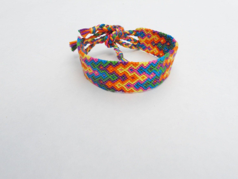 Neon Arrowhead Friendship Bracelet