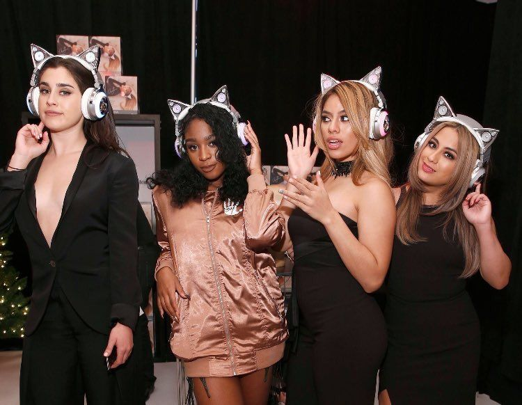 Fifth Harmony backstage at iHeartJingleBall rocking