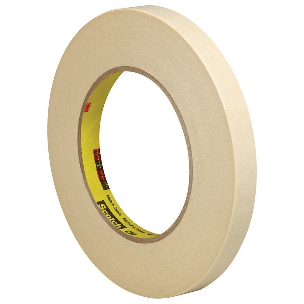 3m 202 Masking Tape 3 Core 0 5 X 180 Natural Pack Of 6 Masking Tape Tape Paint Line