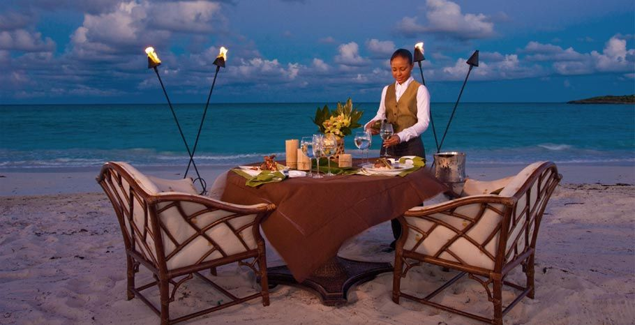 Candlelight Dinner On The Beach At Sandals Emerald Bay Bahamas