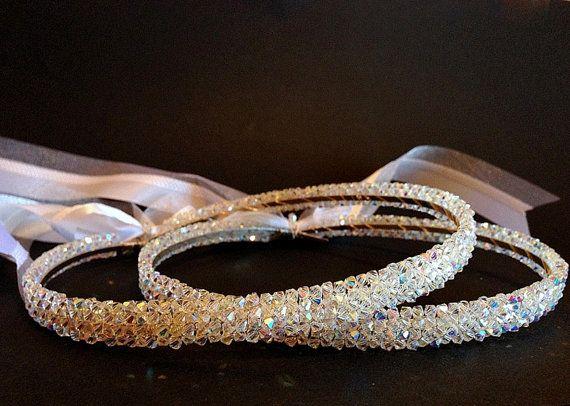 Swarovski Crystal Handmade Knitted Wedding Crowns.Orthodox by RNIA, €139.00