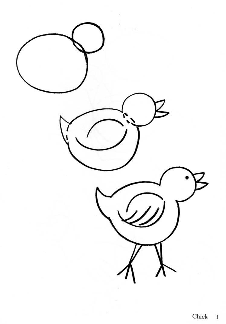 Workbooks how to draw printable worksheets : 005+How+To+Draw+chick.jpg (748×1075) | drawings | Pinterest | Draw ...