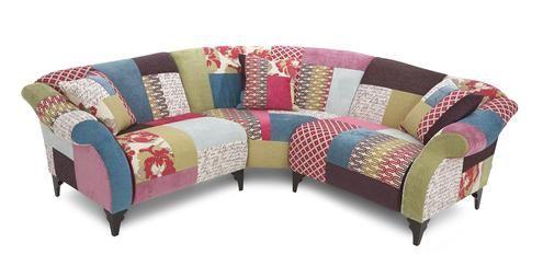 3 Piece Corner Shout Patchwork DFS Sofa Pinterest - design armsessel schlafcouch flop