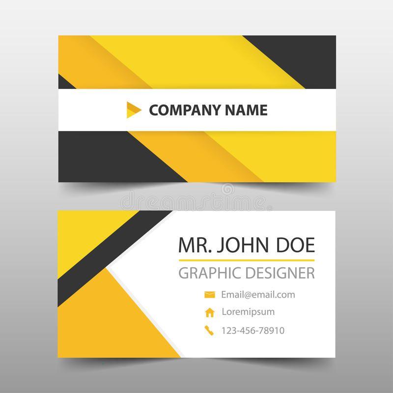 Yellow Black Corporate Business Card Name Card Template Horizo