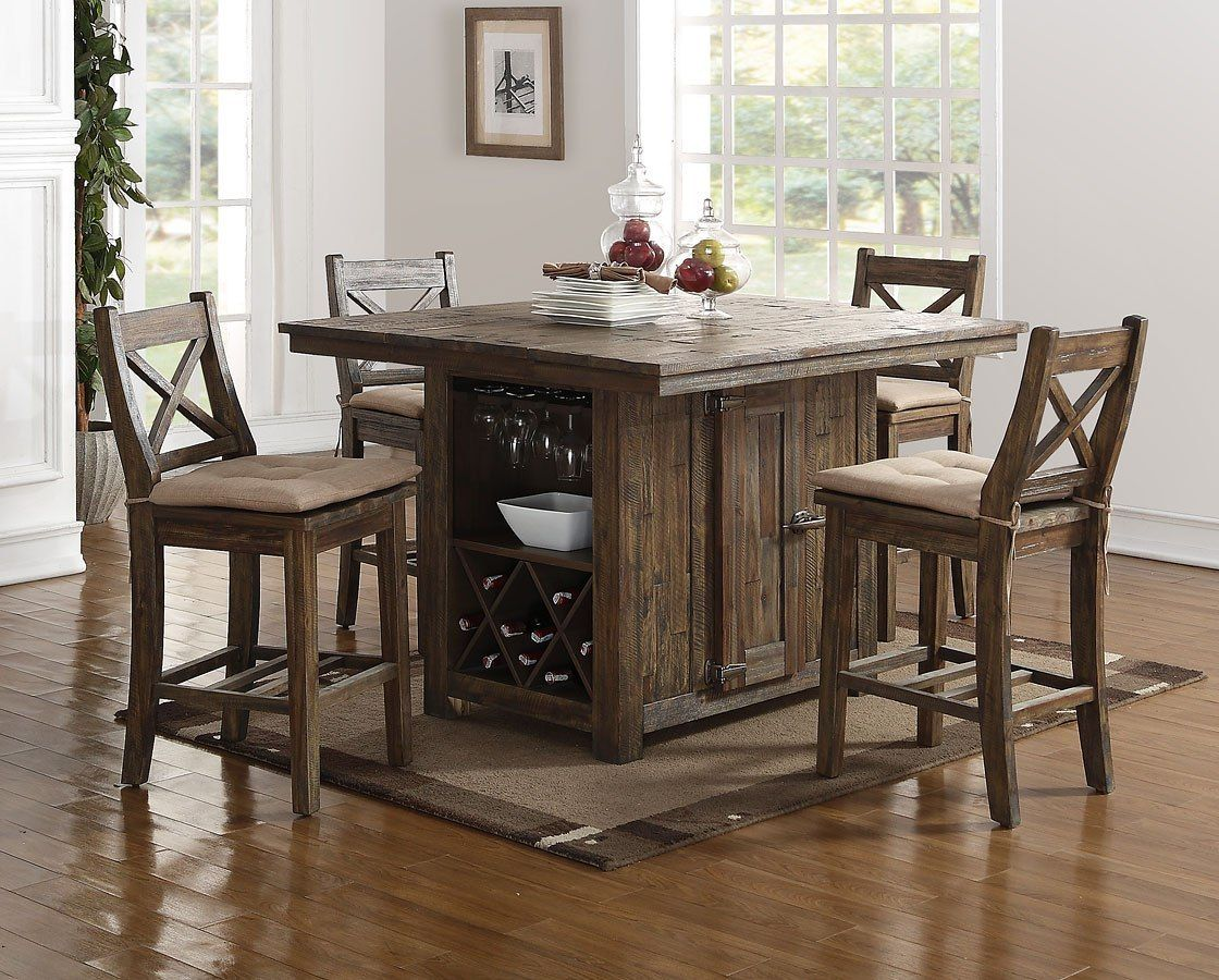 Tuscany Park Counter Height Island Set   Tall kitchen table, High ...