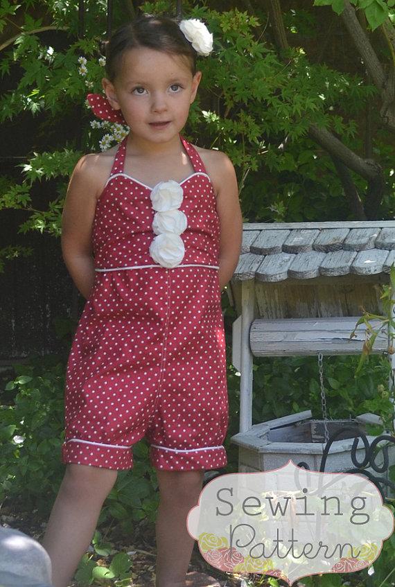 INSTANT DOWNLOAD- Violet Romper (Size 3/6 months to Size 6) PDF ...