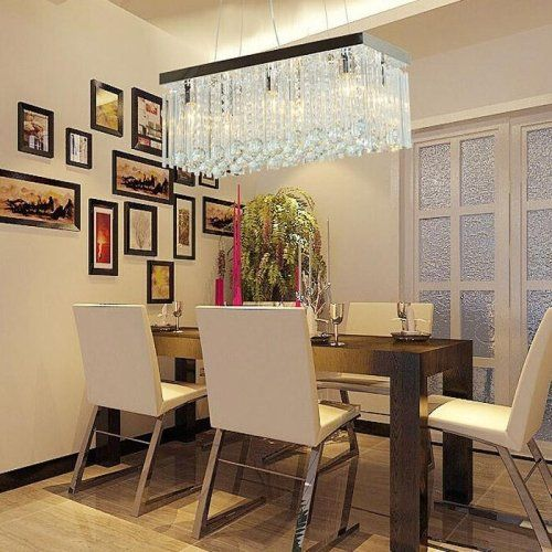 LightInTheBox Modern Clear K9 Crystal Chandelier Rain Drop Lighting ...