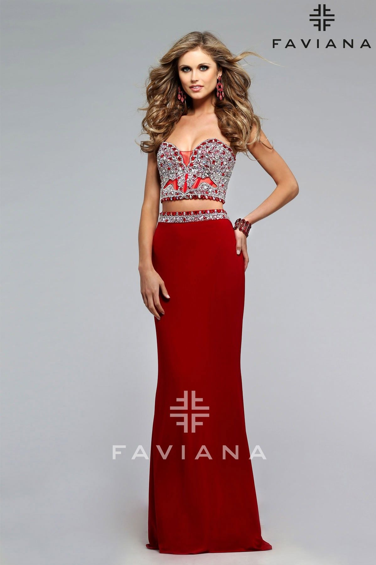 Formal dress with a beaded sweetheart corset faviana homecoming