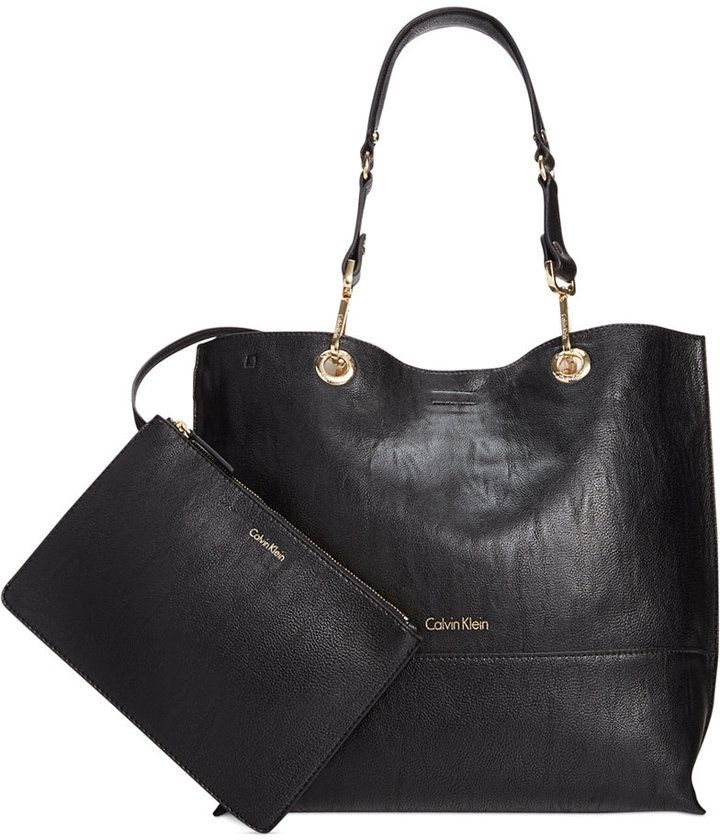 calvin klein reversible tote with pouch on shopstyle com bags rh pinterest com