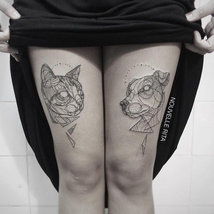 Portuguese tattoo artist Nouvelle Ritaflawlessly transforms animals into an array of geometric shapes and clean lines. Typically devoid of shading or color, the artist's designs are created from a minimalistic viewpoint and, despite their simplicity, Rita's tattoos are anything but average. It's almost as if she's able to see the world through a Cubist lens when coming up with a brand new sketch. While the body art enthusiast does focus on linework, these contours don't fight against the…