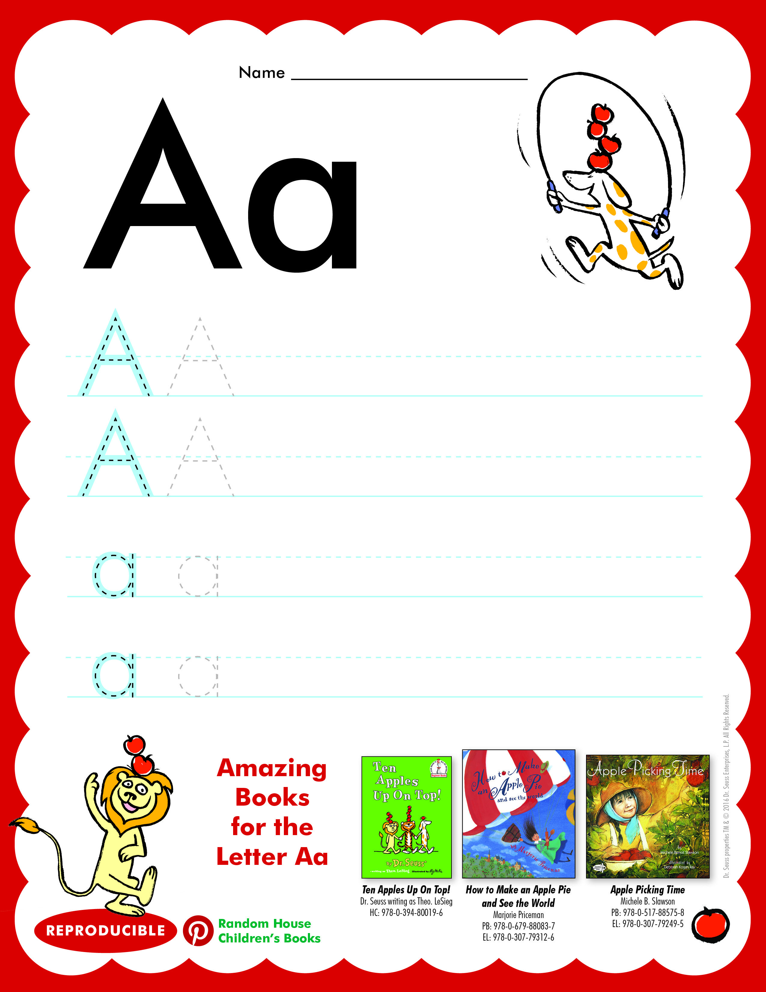 Have Students Practice Writing Letter Aa Then Read Ten