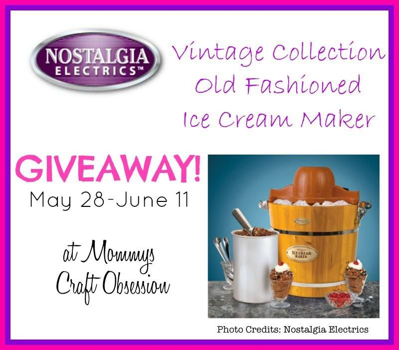 Nostalgia Electrics Old Fashioned Ice Cream Maker Giveaway! Ends 6/11!
