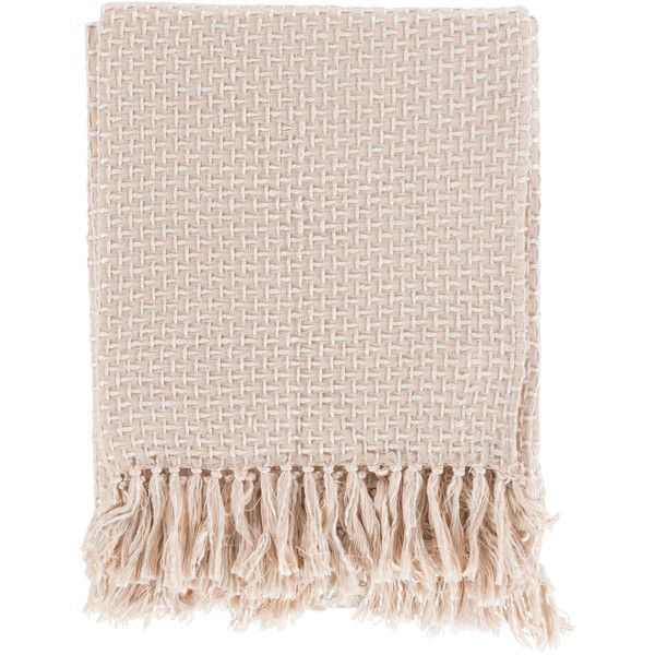 surya tierney pale pink throw blanket found on polyvore featuring home bed bath bedding. Black Bedroom Furniture Sets. Home Design Ideas
