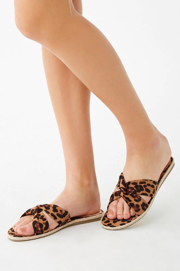 Leopard Print Sandals   Forever 21