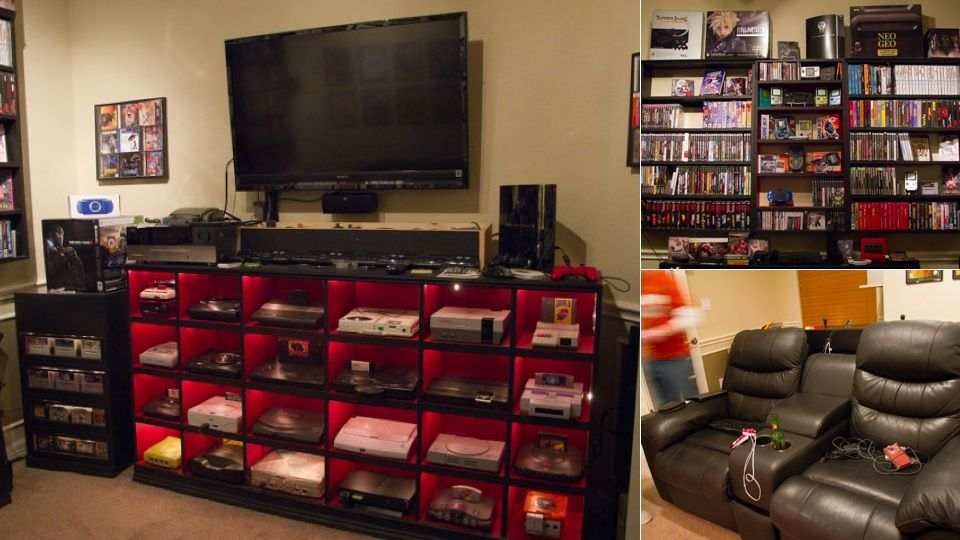 A Historically Awesome Gaming Setup With Every Console In Existence | Gaming  Setup, Consoles And Tv Stands