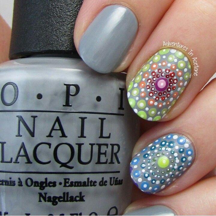 Mandala dots #dotticure nail art inspired by Elspeth | Nails ...