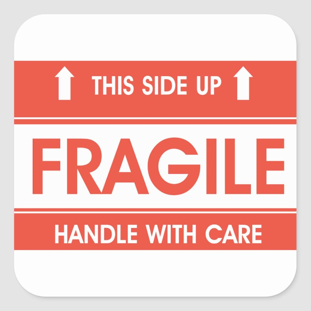 Fragile Sign Stickers Zazzle Com In 2021 Sticker Sign Post Sticker Stickers
