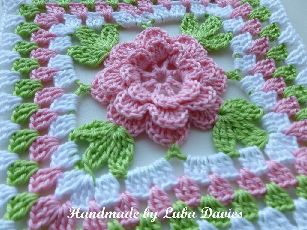 Crochet Pattern Granny Square With Flower : Granny Square Pattern Crochet Flower images