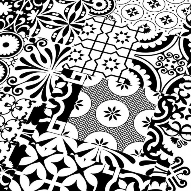 Quadraic 8mm Black White Matt Tile