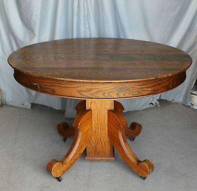Antique Dining Tables, Antique Round Oak Table