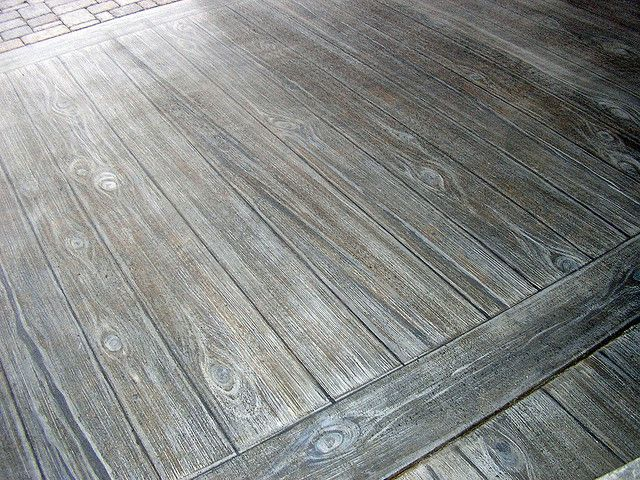 Faux Wood Finish On Concrete Patio Faux Wood Tiles Wood Stamped