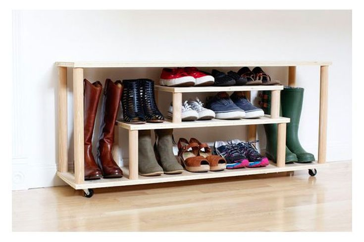 5 DIY Boot and Shoe Racks for Small Entryways Small entryways
