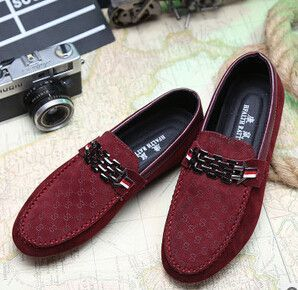 b471059a64b1 Red Bottoms Loafers Black Men Shoes Slip On Men s Leisure Flat Shoes  Fashion Male Breathable Moccasin Loafers Driving Shoes 3A