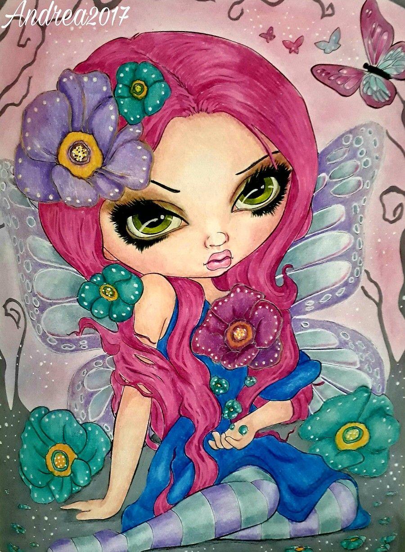 Jasmine Becket-Griffith art print SIGNED Poppy Magic fairy flower faerie big eye