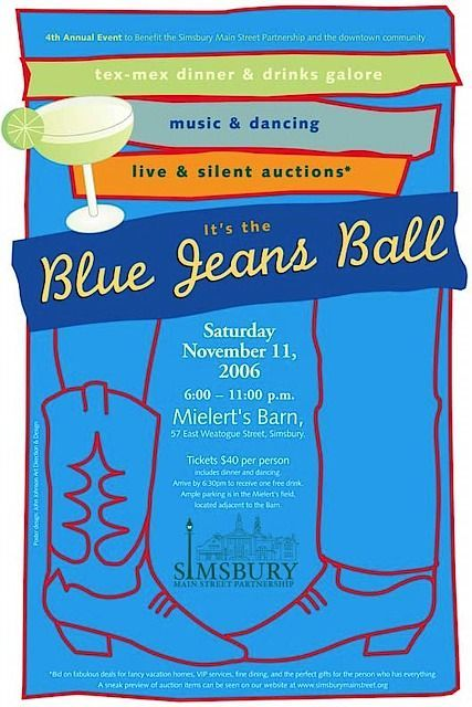 Blue Jeans Ball - Comfortable \ casual fun fundraiser Invitation - fundraiser invitation