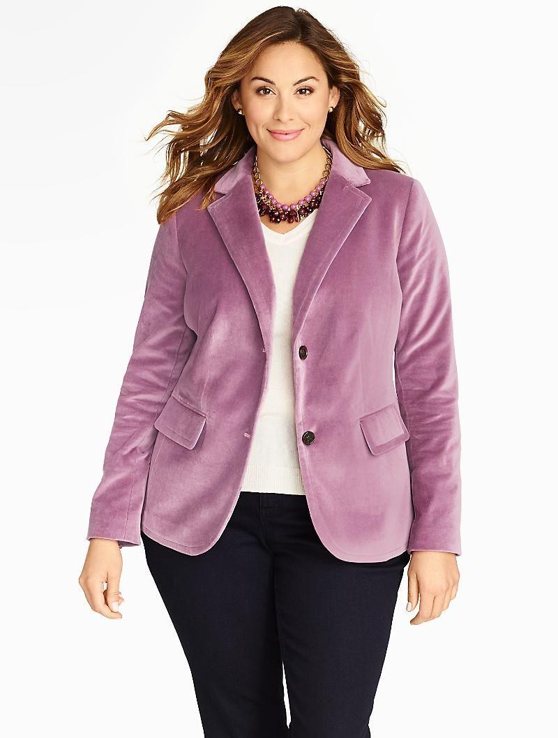 Winter Velvet Blazer Plus Size Clothing Stores Plus Size Outfits Plus Size [ 1057 x 800 Pixel ]