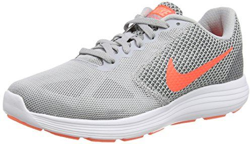 7583065899a8 Nike Revolution 3 Wolf GreyCool GreyAtomic PinkHyper Orange Womens Running  Shoes -- Click image to review more details.(This is an Amazon affiliate  link and ...