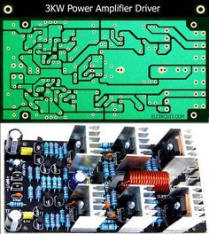 3kW Power Amplifier Driver Circuit PCB Layout in 2019 | 3000w amp