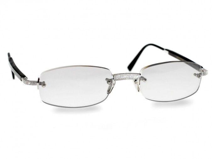 87efcc447c1 7. Gold and Wood 253 Diamond Glasses –  55