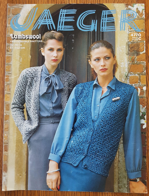 Jaeger 4770 Ladies Sleeved and Sleeveless Sweater