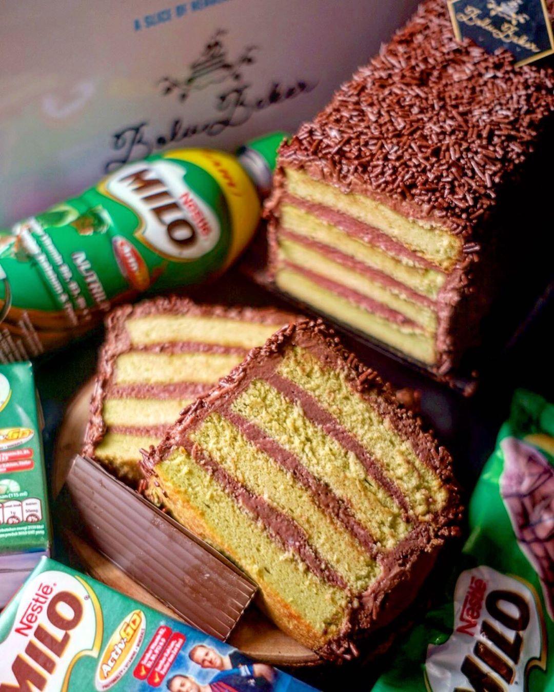 Ice Milo Cake Pertama Di Jogja Premium Cake Real Milo Good Quality Mesies Wow Tobat Ni Lidah Dibikin Kejet Kejet Resep Kue Resep Kue