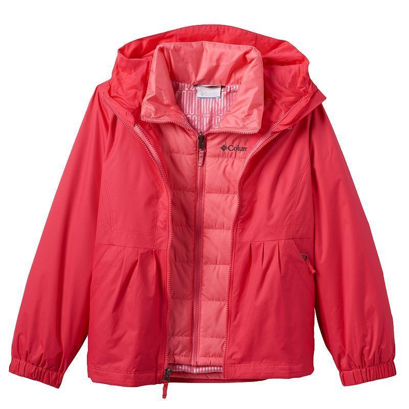 Girls 4-18 Columbia Abominable Interchange Midweight Jacket, Girl's, Size: Xxs (4-5), Light Red