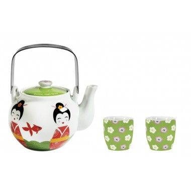 Tea pot and cups - Japanese style