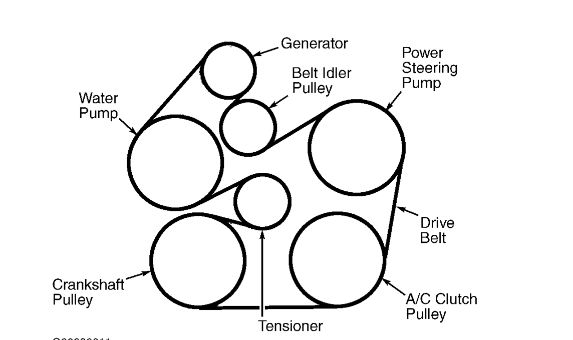 ford taurus 2004 serpentine belt diagram